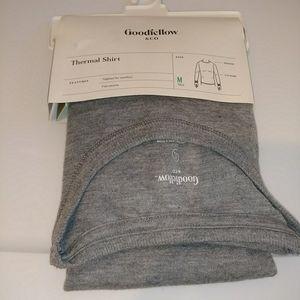 Goodfellow & Co Wool Blend Thermal LS Shirt Gray